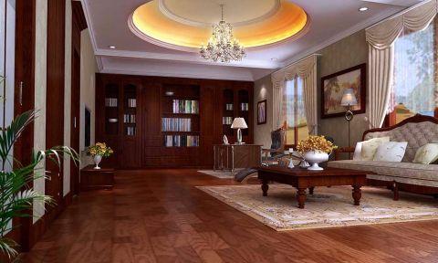 书房吊顶欧式风格装潢设计图片