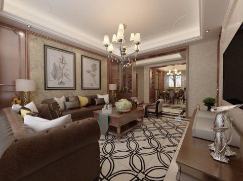 客厅吊顶混搭风格装潢效果图
