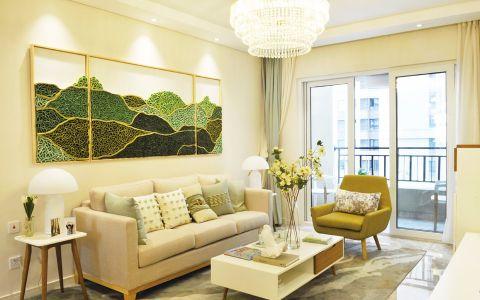 桂丹颐景园90平简约风格三居室装修效果图