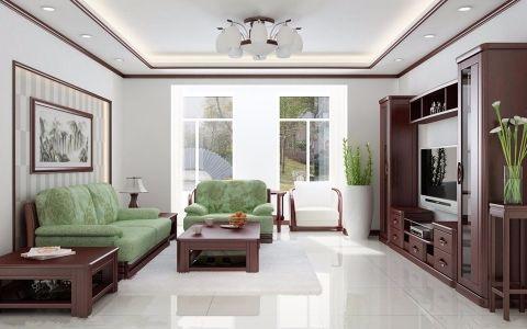新洛新庭90平米中式风格装修效果图