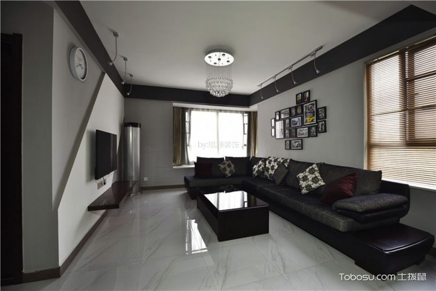12万预算110平米两室两厅装修效果图