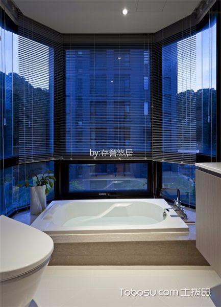 浴室 窗帘_5万预算120平米套房装修效果图