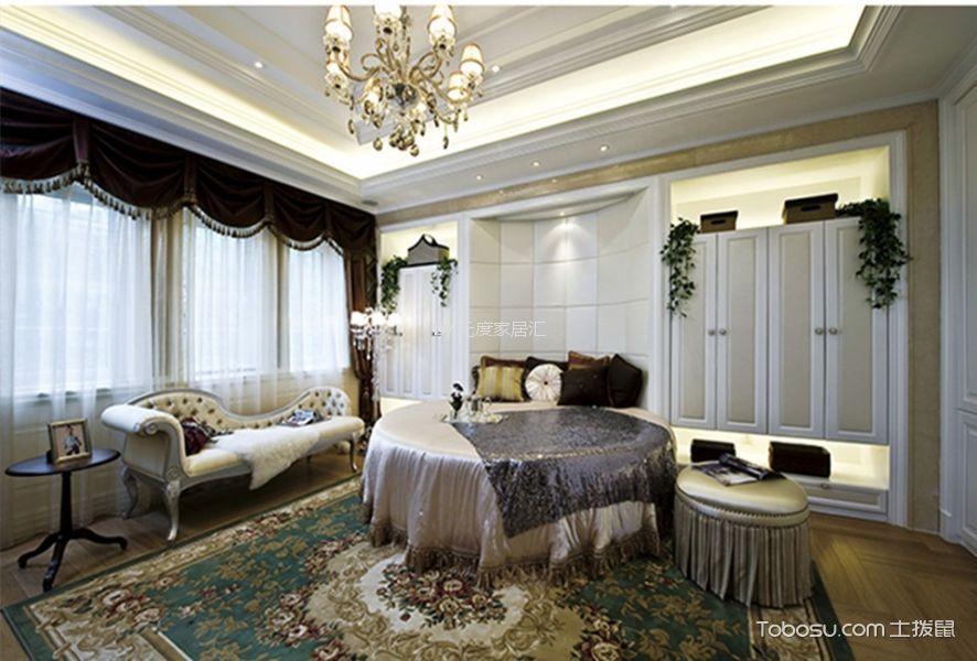 龙湖欧式风格三居室装修效果图