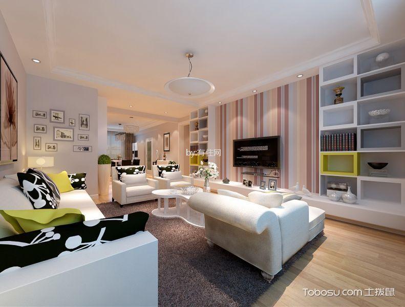 120平现代风格二居室装修效果图