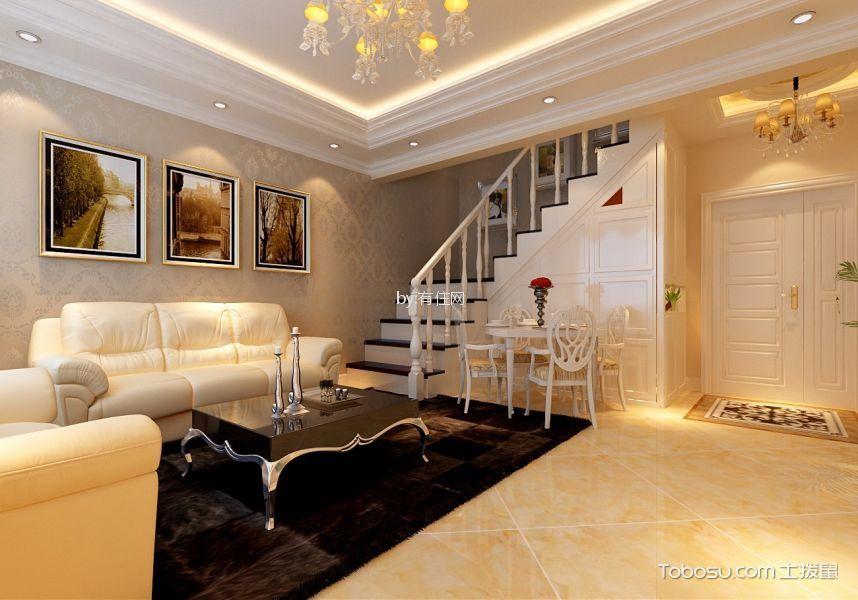 简欧风格两居室复式楼装修效果图
