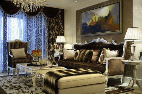 奥克斯120平欧式风格三居室装修效果图