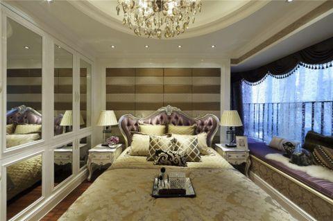 卧室米色床欧式风格装修图片