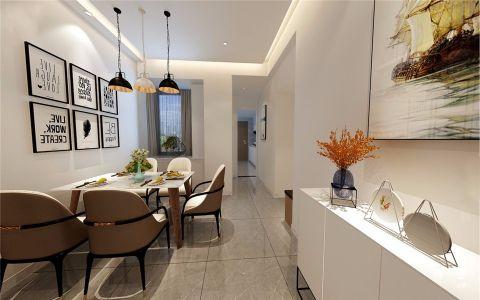 餐厅白色走廊现代风格效果图
