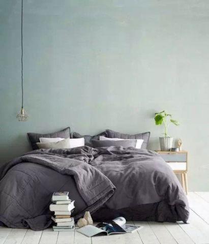 完美北欧绿色背景墙装饰图