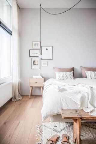 北欧卧室窗帘装修实景图片