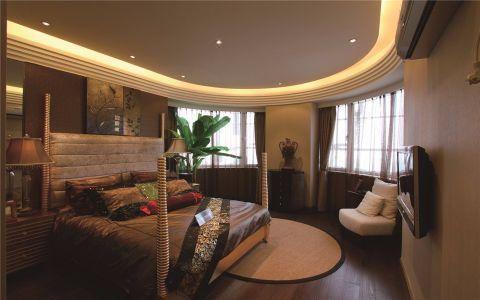 卧室白色吊顶东南亚风格装潢效果图