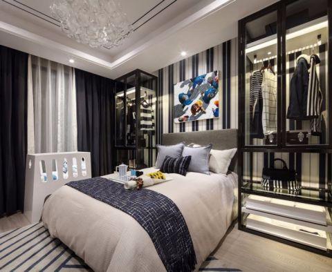 卧室白色床现代风格装潢效果图