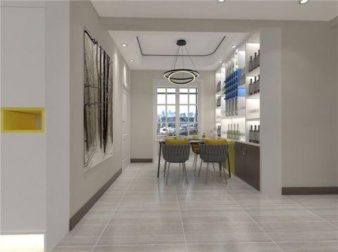餐厅白色吊顶简约风格效果图