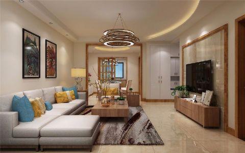 8万预算98平米三室两厅装修效果图
