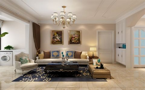 138平美式风格四居室装修效果图