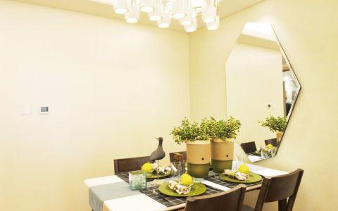 餐厅背景墙简约风格装潢设计图片