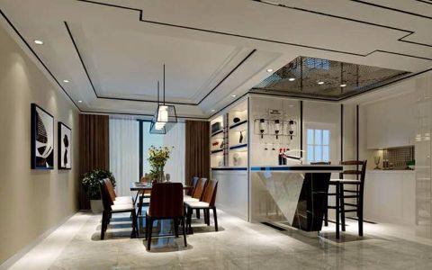 餐厅博古架简欧风格装潢设计图片