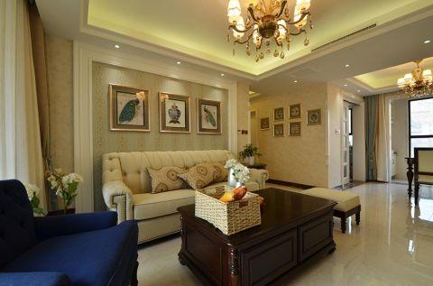 华润国际120平现代风格三居室装修效果图