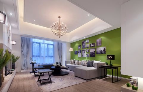 吉如家园89平现代风格二居室装修效果图