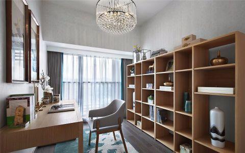 书房吊顶新中式风格装饰效果图