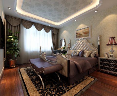 卧室窗帘简欧风格装潢效果图