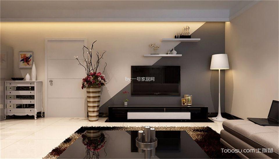 客厅 背景墙_11万预算120平米三室两厅装修效果图