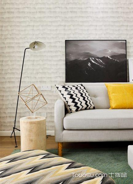 客厅白色细节北欧风格装修图片