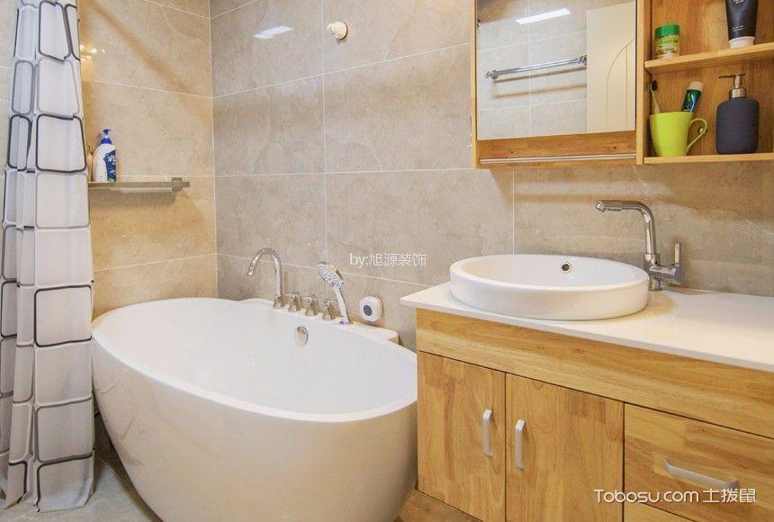 浴室 浴缸_15万预算120平米三室两厅装修效果图