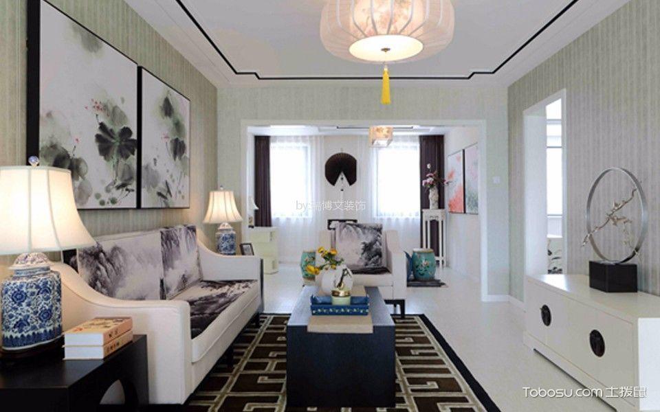 万年花城180平米新中式三居室装修效果图