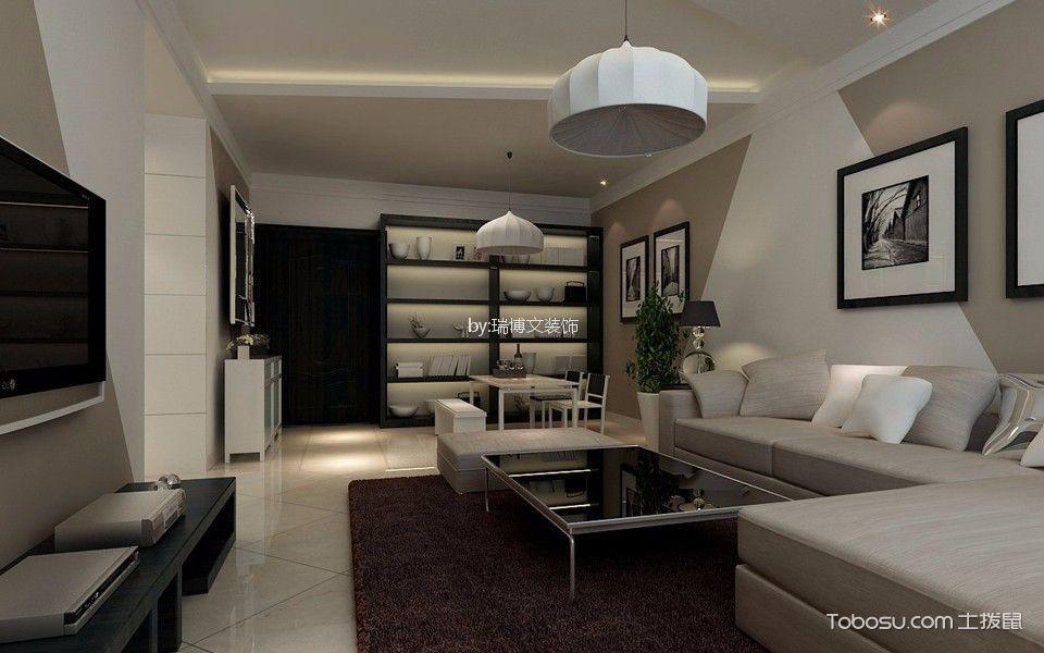 阳光新城150平米现代简约二居室装修效果图