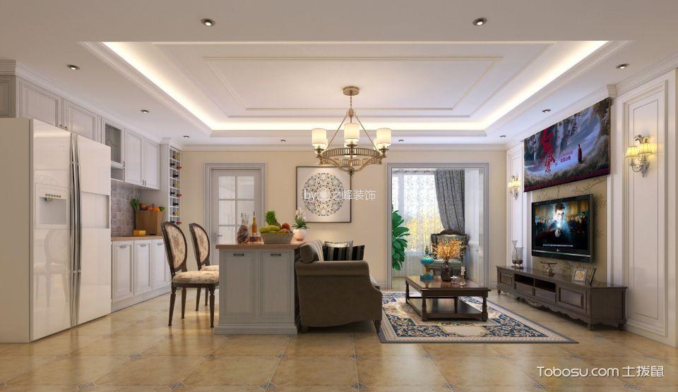 23万预算110平米两室两厅装修效果图