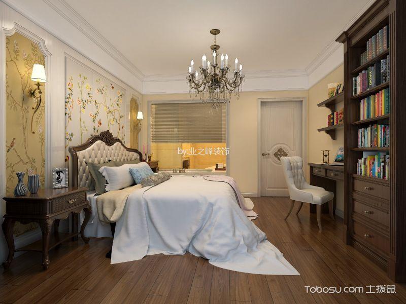 卧室咖啡色书架简欧风格装饰图片