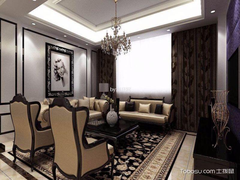 120平欧式风格三居室装修效果图