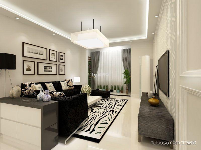 16万预算125平米三室两厅装修效果图