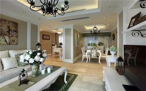 海洲景秀世家112平美式风格三居室装修效果图