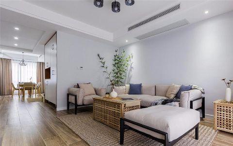 紫竹苑110平现代简约风格三居室装修效果图