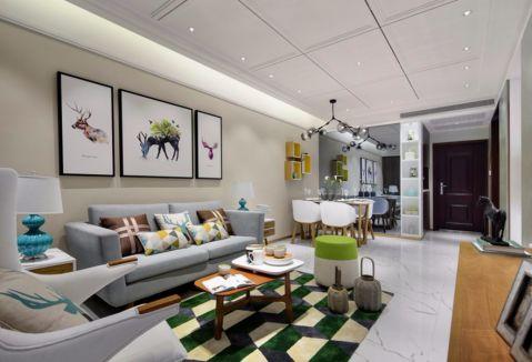 13万预算131平米三室两厅装修效果图
