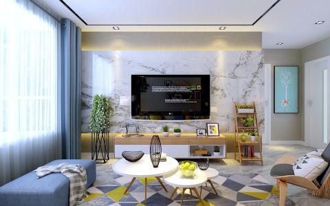 金色米兰现代简约风格复式楼装修效果图