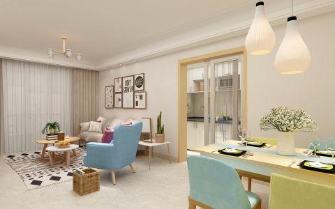 保利香槟90平米简约风格三居室装修效果图