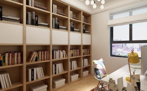 书房博古架简约风格装修效果图