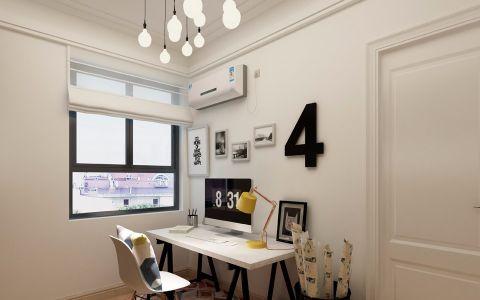 书房背景墙简约风格装饰效果图