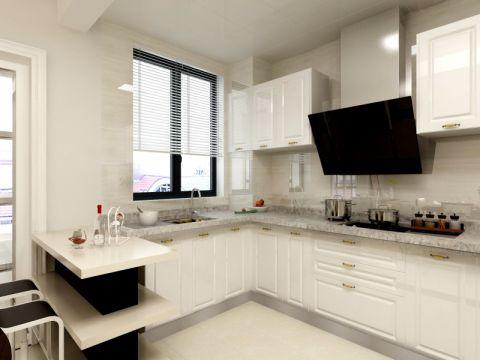 厨房背景墙现代简约风格装修效果图
