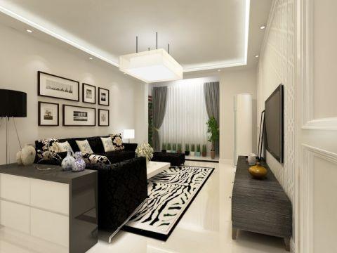 逸涛园125平米现代简约两居室装修效果图