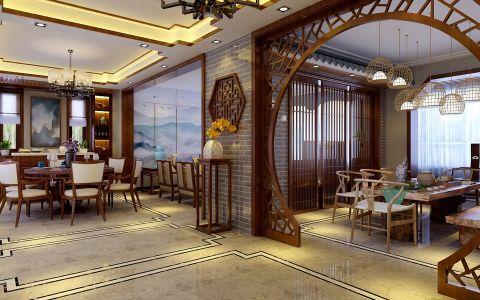 餐厅门厅新中式风格装饰效果图
