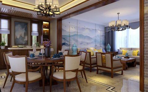 餐厅走廊新中式风格装修图片