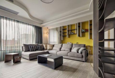 现代风格110平米三室两厅装修效果图