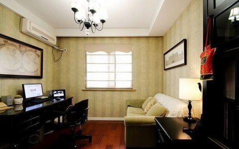 书房背景墙简欧风格装修效果图