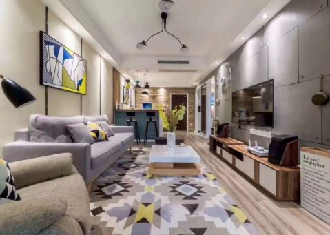 120平方混搭风格三居室装修效果图
