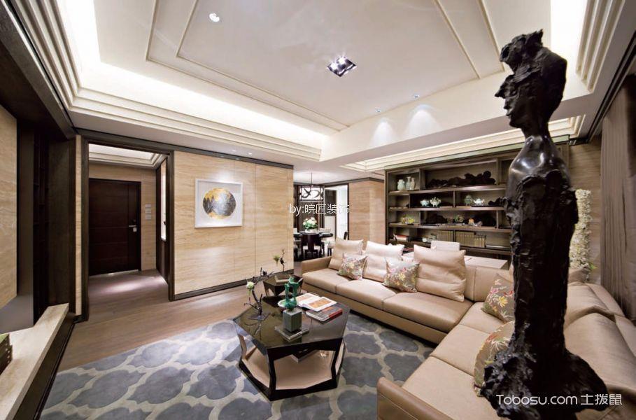 6.4万预算90平米三室两厅装修效果图