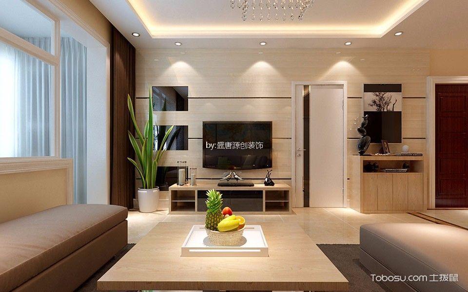 110平现代简约风格二居室装修效果图